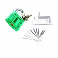 Locksmith Tools Kit 3 In 1 Set Green Transparent Lock 5pcs Locksmith Wrench Tools 10pcs Locksmith
