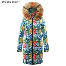Теплые Меховые Длинные пуховики с капюшоном, женские пуховики, зимнее пальто, куртка с хлопковой подкладкой, женская зимняя куртка, пальто д...(China)