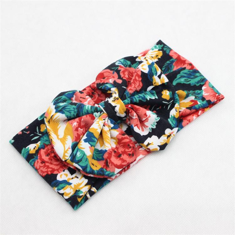 новые моды Детские ободки цветочный лук большой бант гидроманта младенческой лук turband для волос девушки волосы Аксессуары