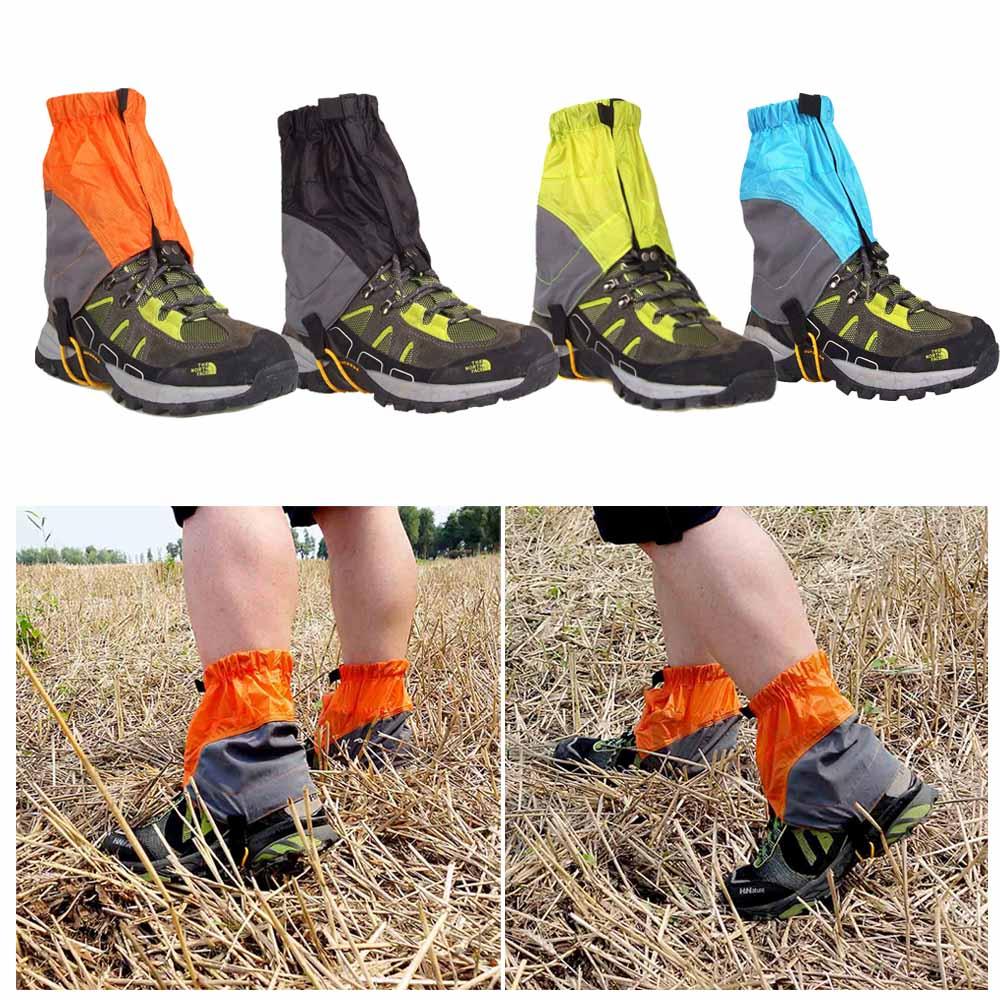 Waterproof Silicon Coated Nylon Outdoor Gaiters Ultralight Gaiters Leg Protection Guard Hiking Climbing Trekking Gaiters(China (Mainland))