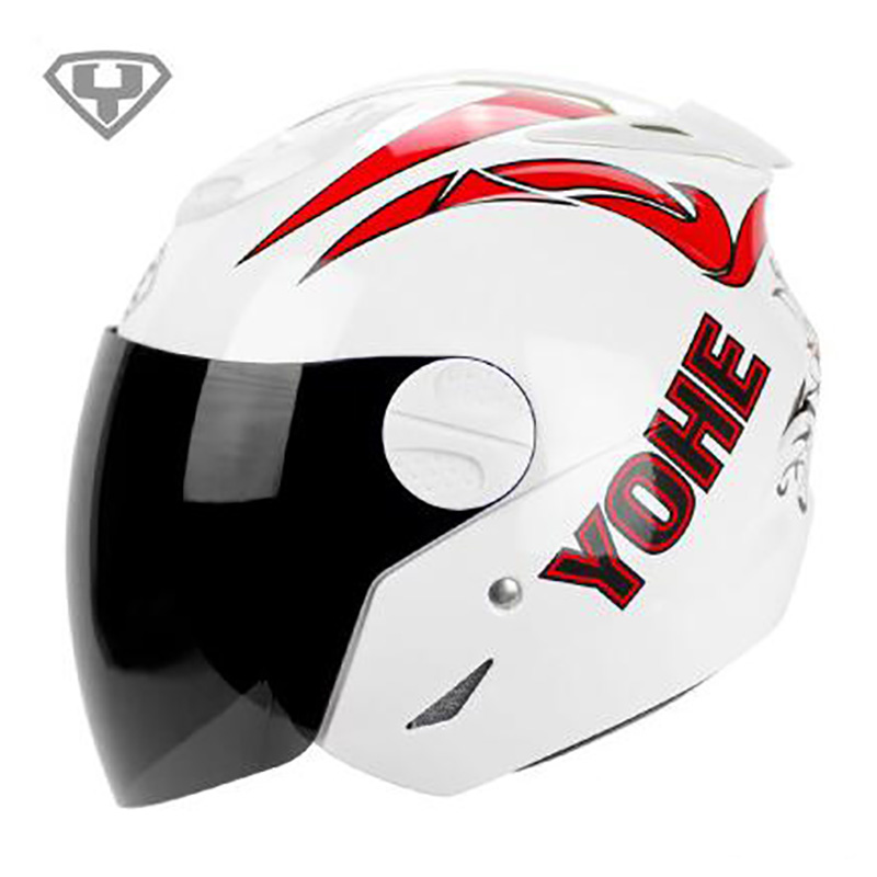 Fashion Eternal YOHE 601 Unisex Four SEASONS Motorcycle Racing motorcycle helmets Electromobile moped scooter casco Helmet cap(China (Mainland))