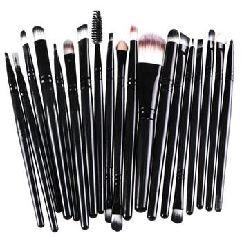 16 color Professional 20 pcs Makeup Brush Set tools Make-up Toiletry Kit Wool Brand Make Up Brush Set pincel maleta de maquiagem