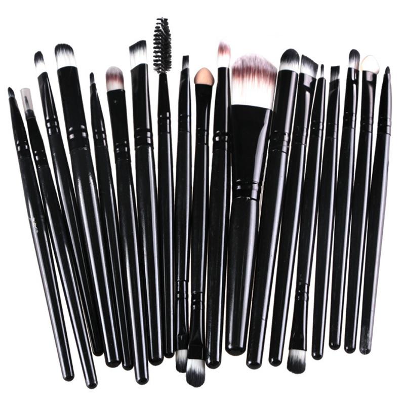 16 color Professional 20 pcs Makeup Brush Set tools Make-up Toiletry Kit Wool Brand Make Up Brush Set pincel maleta de maquiagem(China (Mainland))