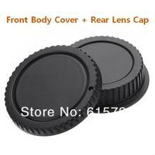Wholesale 10 Pairs camera Body cap + Rear Lens Cap  for 1000D 500D 550D 600D EF EF-S Rebel T1i eos Camera free shipping