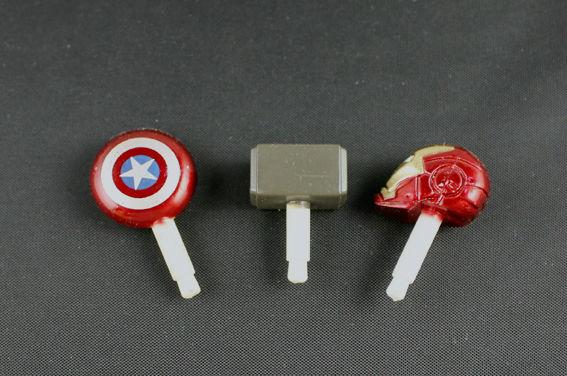 3PCS/SET 3.5mm Iron Man Quake Captain America dust Plug Earphone Jack Headset Stopper Cap - r's store