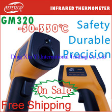 Digital Infrared Thermometer Themperature Pyrometer IR Laser Point Gun Non-Contact 330 degree Free Shipping High Quality