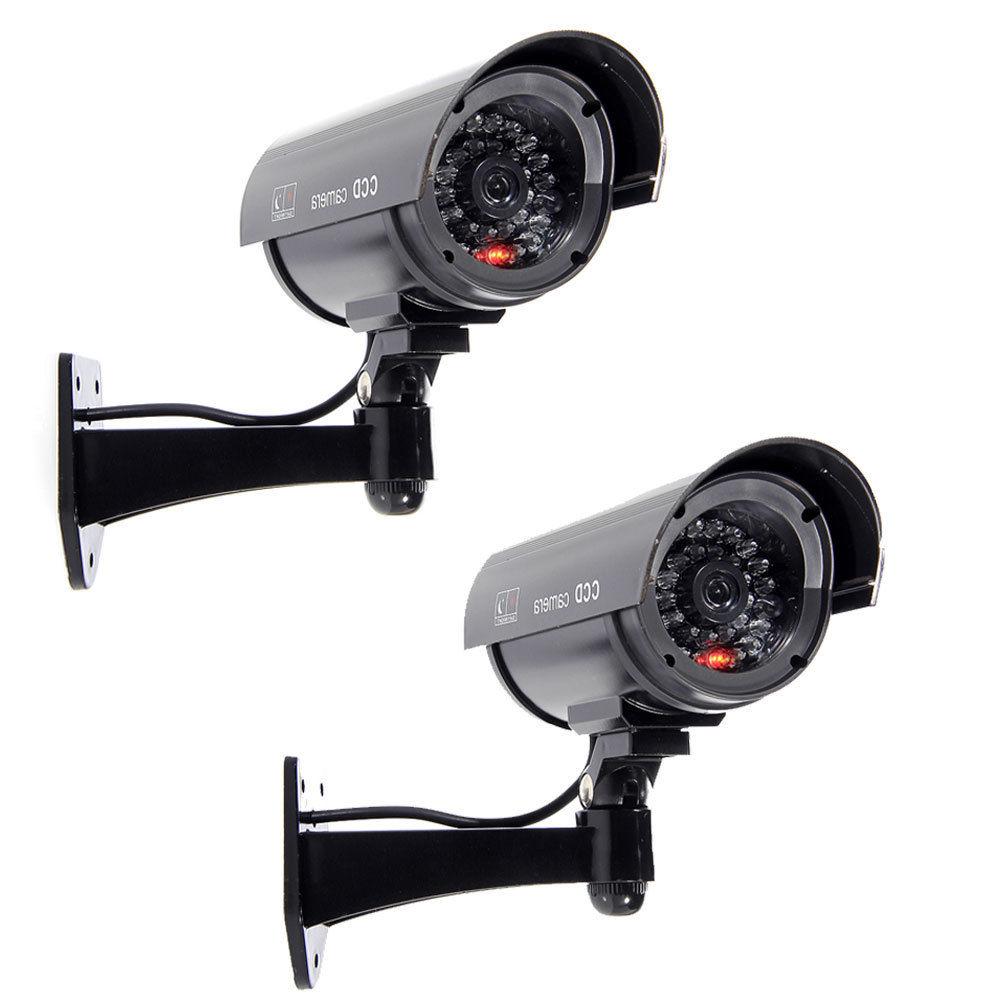 2Pcs IR Bullet Fake Dummy Surveillance Security Camera CCTV Record Light LED(China (Mainland))