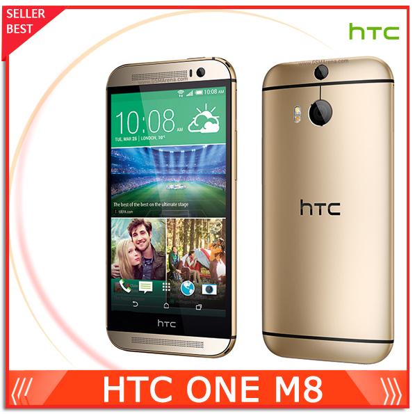 "5.0"" Original M8 Unlocked HTC ONE M8 Mobile Phone Quad Core Android 4.4 RAM 2GB + ROM 16GB/32GB Bluetooth NFC 4G LET Cellphone(China (Mainland))"