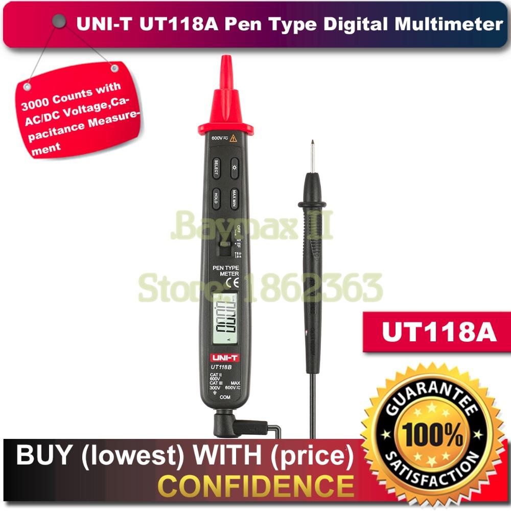 Uni-t Ut118A 3000 Counts AC/DC Voltage Capacitance Resistance Pen Type Digital Multimeters Meter Detector(China (Mainland))