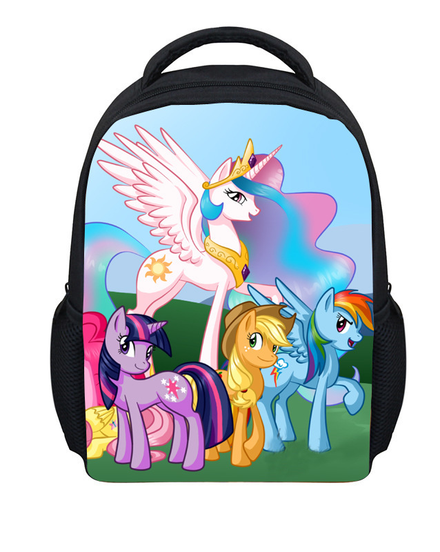 2015 New Fashion My Little Pony Backpack For Kids Cartoon ...