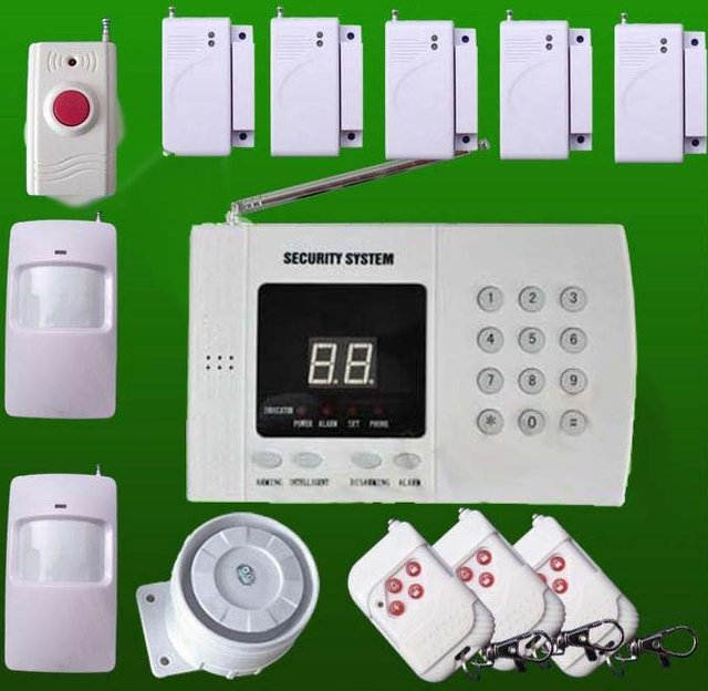 New 99 Wireless PIR Home Security Burglar Voice Alarm System Auto Dialing Dialer Easy DIY + Free Shipping