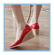 ENMAYER Black Red Beige Platform pumps high-quality open toe new 2015 Wedding shoes fashion beautiful women pumps(China (Mainland))