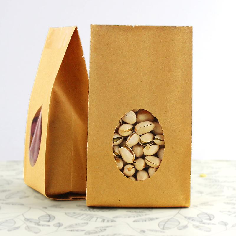 10 10cm*26cm+6cm*140micron Food Packing Kraft Bags Sweets Tea r - Packaging Store store