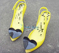 Love sexy vivi fashion jelly shoes metal heart high heeled open toe sandals plastic women s