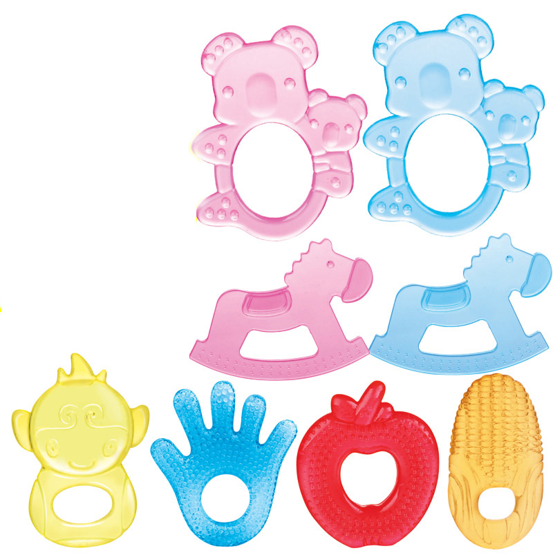 1pcs Baby Teethers Safe silicone teether flavor without chemical dyeing no flavor baby teething rings Foreign high-end wind(China (Mainland))