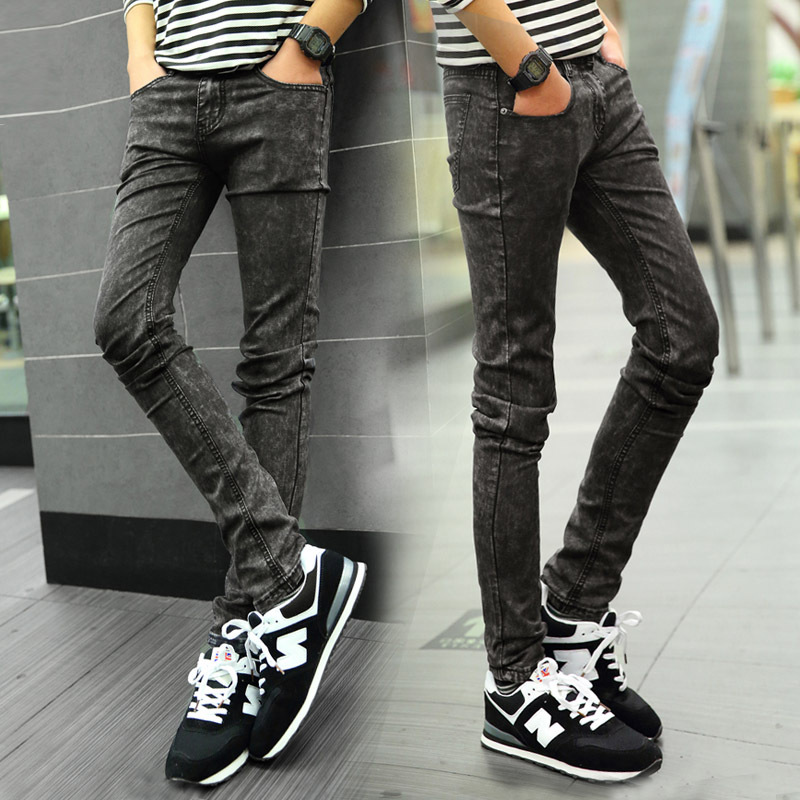 new 2015 fashion mens skinny jeans lager size stretch denim pants men. Black Bedroom Furniture Sets. Home Design Ideas