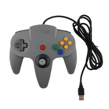 New Hot New USB Game Wired Controller Joypad Joystick Gaming For Nintendo N64 PC Grey Free shipping