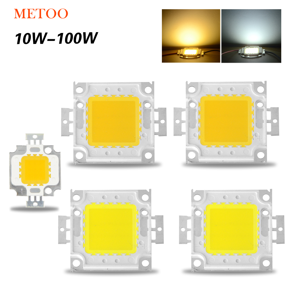 High Power Epistar COB LED Chip 10W 20W 30W 50W 100W DC 10V-32V Integrated Lamps SMD For Floodlight Spotlight Warm White /White(China (Mainland))