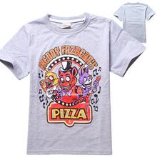children t shirts five nights at freddy t-shirt boys clothes cartoon short sleeve top kids clothes boys t shirt fashion clothing
