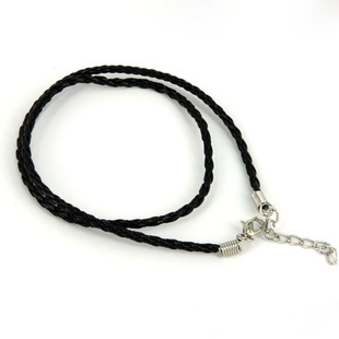 Здесь можно купить  Free shipping! 200pcs/lot 3mm black PU leather cord necklace pendant cord pendant necklace  Ювелирные изделия и часы