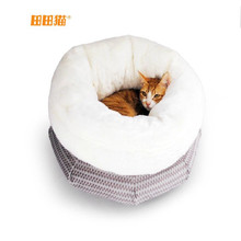 Warmly Winter Pet Cat House Sleeping Bag Comfortable Woollen Cloth Material Good Life for Cats Pocket  Wrapped  Cat Litter(China (Mainland))