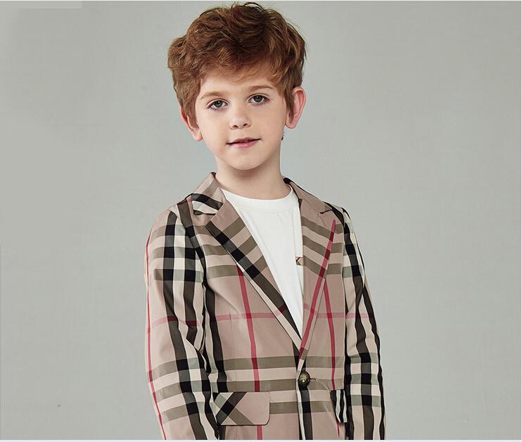 2015 new plaid blazers for boys young boys wedding clothes wedding suits for infants plaid blazers suit for boys(China (Mainland))