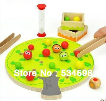 Small fruit clip music children's educational wooden toys early childhood refining fine motor 3 years old - Online Store 534698 store