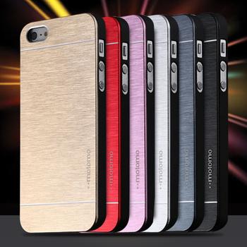 4S горячая роскошный алюминиевый металлической щеткой чехол для iphone 4 4S телефоны , аксессуары жесткий задняя крышка для iphone4 оригинальный логотип высокое качество
