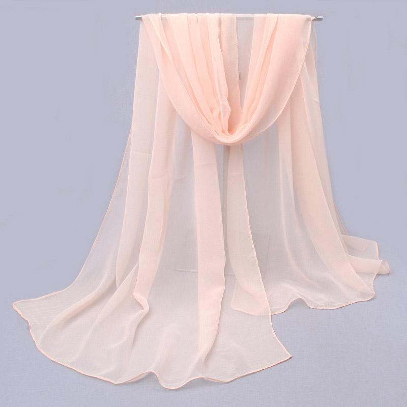 2016 Summer soild Silk Scarf Women Chiffon Scarves Sunscreen Pareo Beach shawl Female Luxury Brand Scarf(China (Mainland))