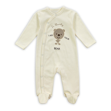 Retail New Arrival100% Pure Cotton Baby Rompers Girl Boy Baby Pajamas Cute Bear Newborn Next Jumpsuits & Rompers Baby Product(China (Mainland))