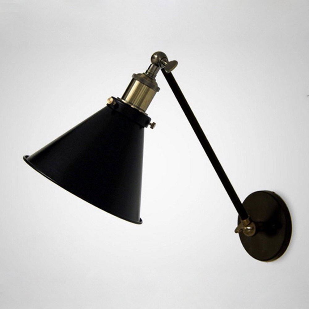 Wall Sconce Swing Arm Light : Retro Edison Nordic Industrial Loft Swing Arm Wall Sconce Warehouse Ambient Lighting E27 Bar ...