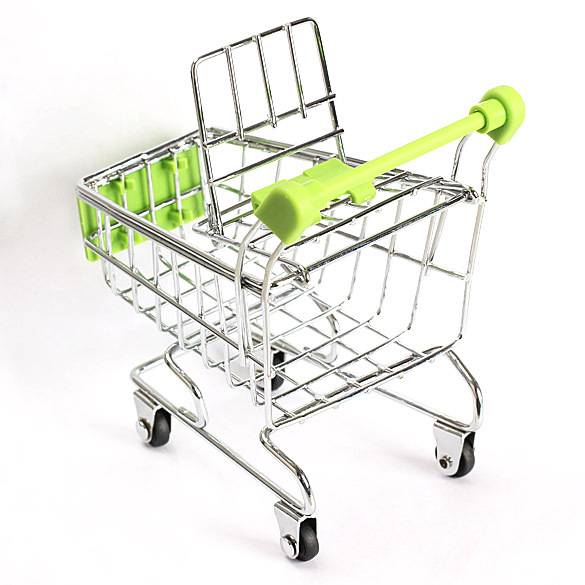 Mini Supermarket Handcart Green Shopping Utility Cart Mode Green Storage US V