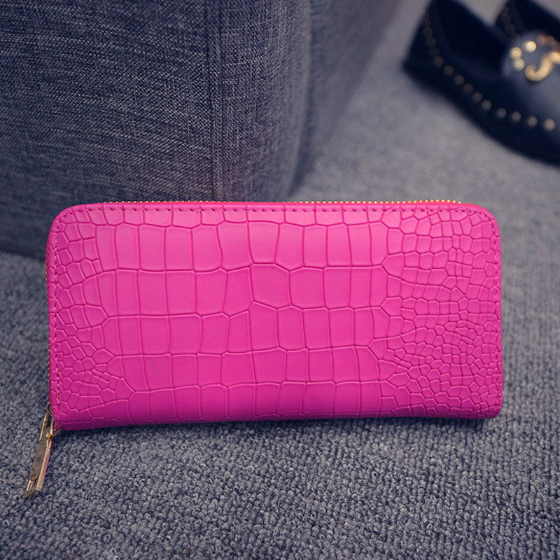 2016 Zipper Long Alligator Ladies Women Wallet Brand Womens Purses And Wallets Women's Purse Leather Clutch Female New Wristlet(China (Mainland))