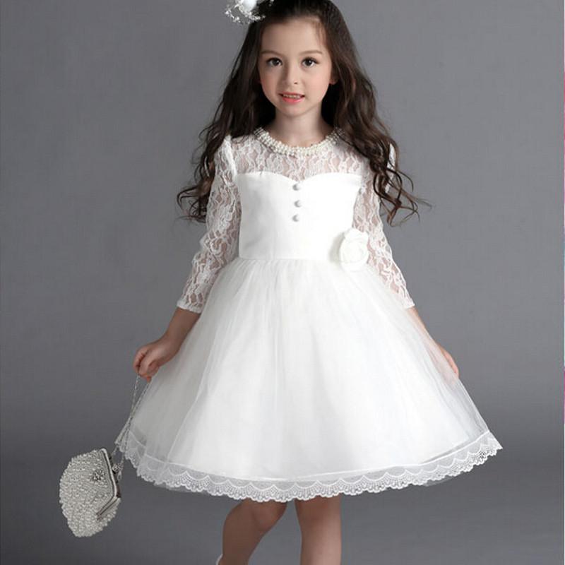 Buy 2016 new lace white flower girl for Dress for wedding for girls