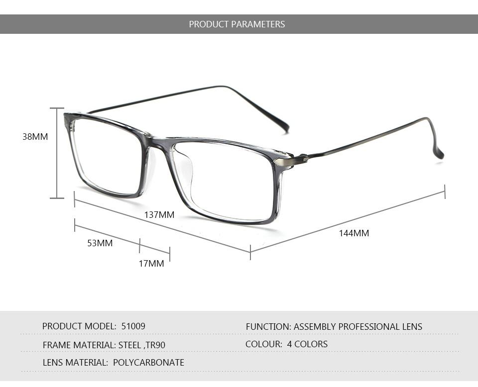 Großhandel Großhandels Platz Tr90 Optische Brillen Rahmen Für Männer ...