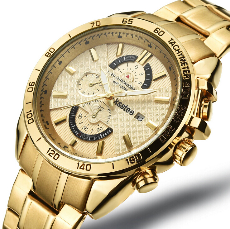 Men Watches Men Casual Business Top Brand Luxusy Stainless Steel Gold Automatic Date Waterproof Quartz Watch Relogio Masculino