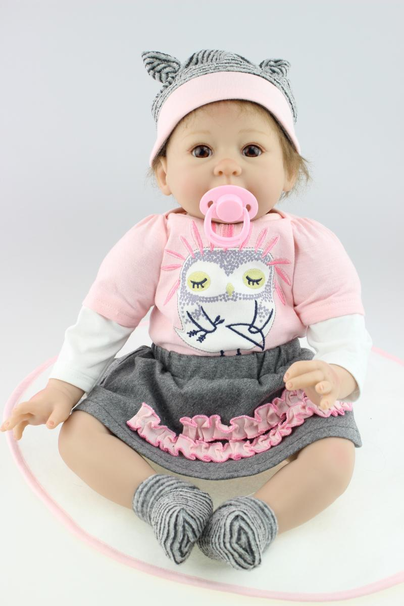 TOP QUALITY 55cm high Ultra - simulation child love baby dolls/ reborn baby girl doll/baby alive dolls toys for children