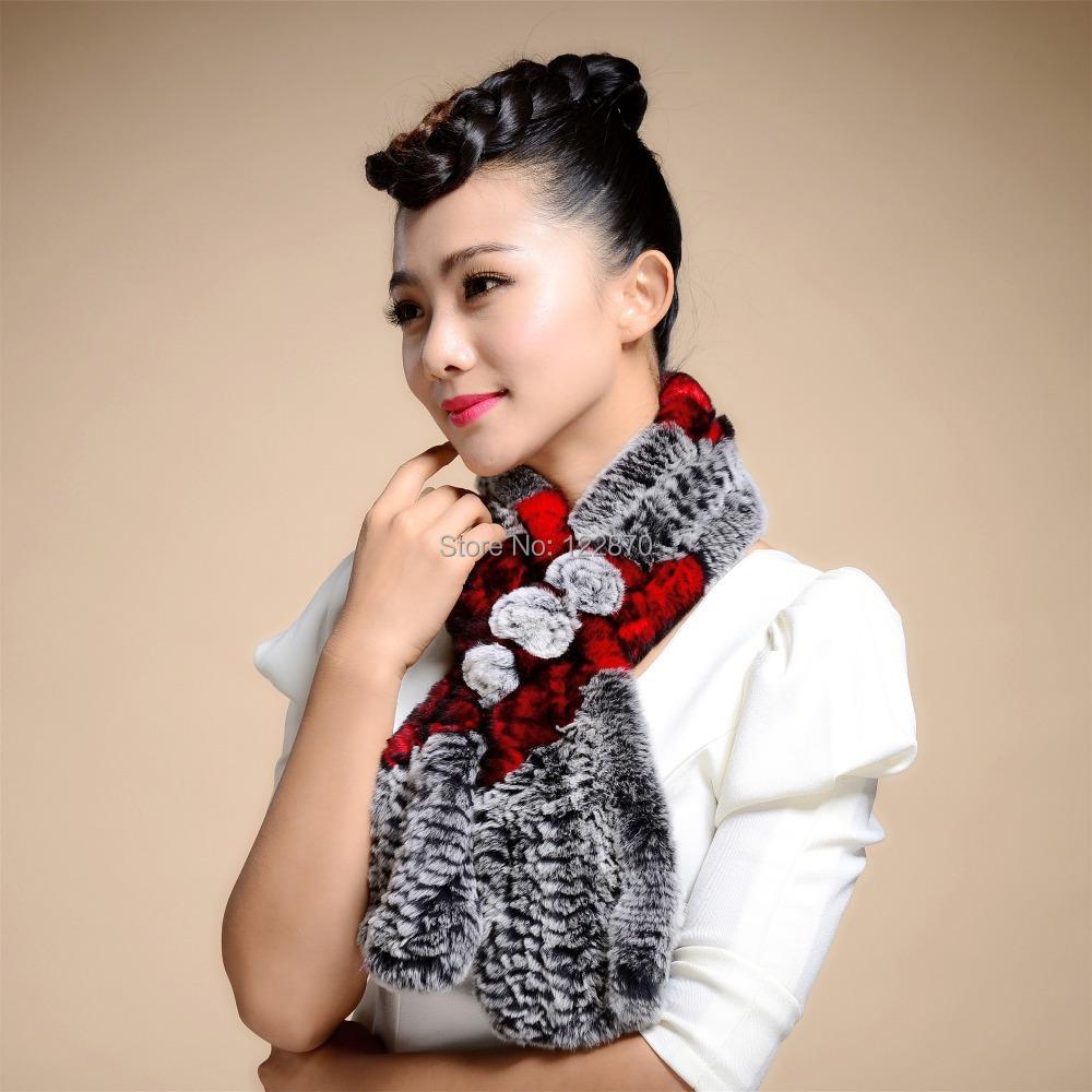 2015 autumn winter fashion new ladies Rex rabbit fur collar scarves Korean warm scarf - Standing proudly snow store