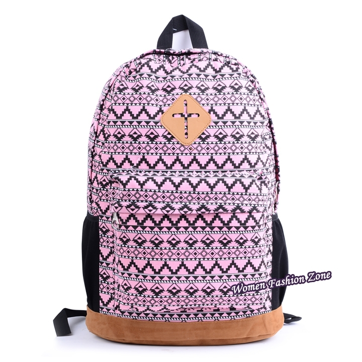 2014 School Backpacks Fashion Style Floral Printing Canvas School Bags ...