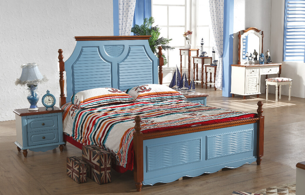Furniture Manufacturer Top Grade Wood Blue And Reddish