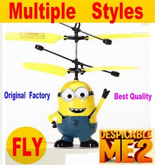 Пакет обновления Индукционная Летающая Игрушка Гадкий я Миньон Пульт Дистанционного Управления RC Вертолет Мультикоптер Drone Kid Toy Vs сыма x5c x5sw