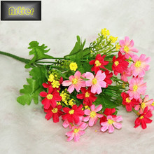 Jump orchid daisy yiwu simulation artificial silk artificial flower AD0065(China (Mainland))