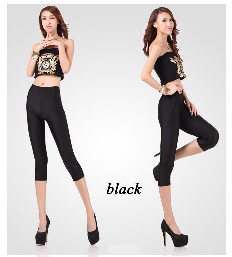 candy color pencil cotton female black pant sexy fitness sport leggings leggins gym women elastic seven pants adventure time(China (Mainland))