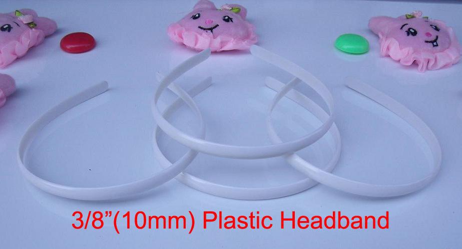 "10 pcs 3/8"" plastic headbands 10mm wholesale plastic headband 6 sizes to choose: 3/8"", 5/8"", 6/8"",1"", 1-1/2"", 48mm(China (Mainland))"