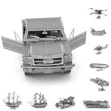 Bs # S bricolage 3D Puzzle métallique modèle de véhicule jouets pour enfants adultes bateau Dirigeable hélicoptère bateau Pirate avions de combat classique de voiture(China (Mainland))