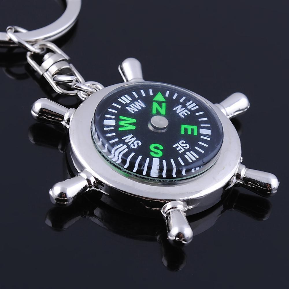 Fashion High Quality Novelty Compass Charm Men Keychain Rudder Men's Key Chain Key Ring Jewelry Car Accessory Gift Christmas(China (Mainland))