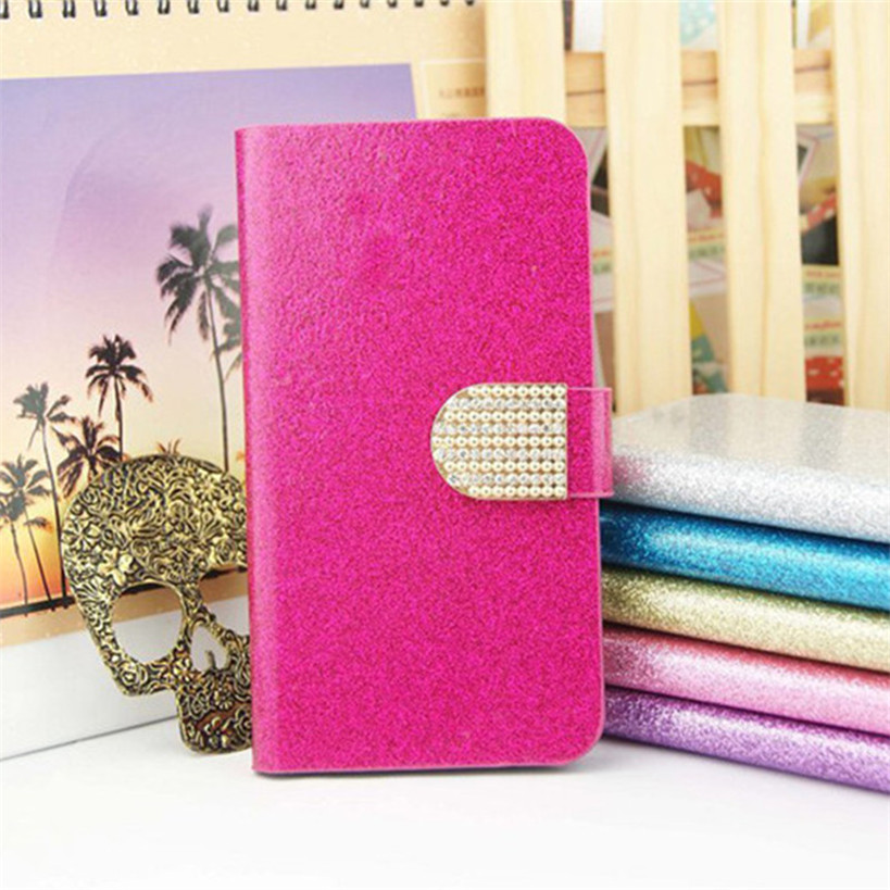 "Luxury Bling Glitter Flip PU Leather Cover Case ASUS X014D Zenfone Go 2016 ZB452KG ZB ZB452 452 452KG KG 4.5"" Skin Cover"
