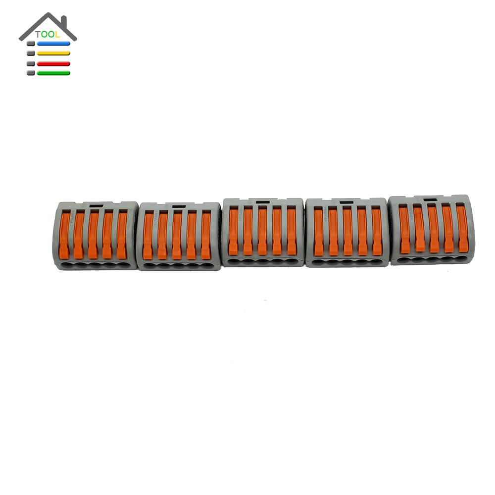 5pcs Crimp Terminal 5 Hole Pin Universal Compact Plug Socket Wire Wiring Connector Terminals for Electric Power Tool(China (Mainland))