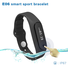 Buy Waterproof Bluetooth Smart Bracelet E06 wristband Health fitness tracker Sport Smartband iPhone IOS Android phone PK mi Band for $21.41 in AliExpress store