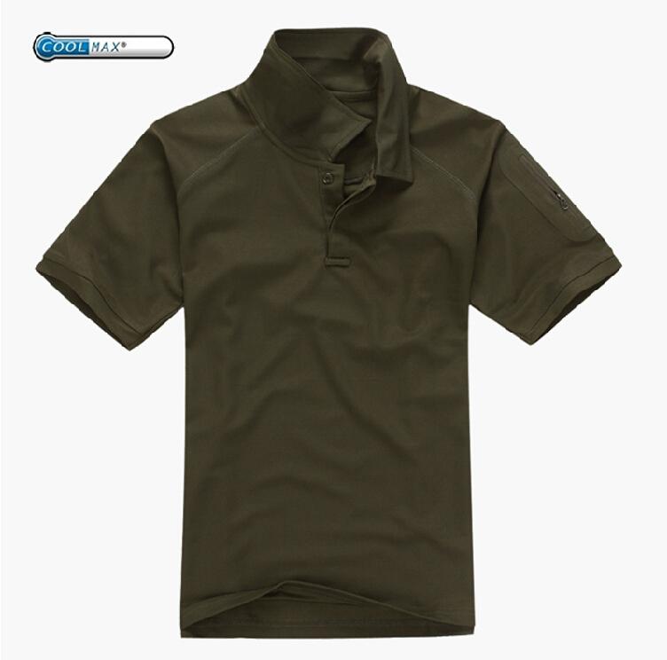Camo airsoft polo shirt army green golf shirts mens free for Camo polo shirts for men